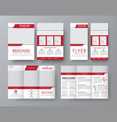 Design front and back side folding brochure a4 vector