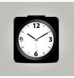 Square mechanical clock vector