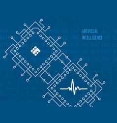 Artificial intelligence virtual high-tech vector