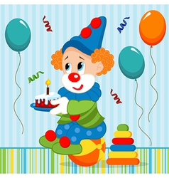 birthday baby clown vector image