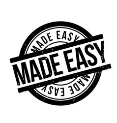 Made easy rubber stamp vector