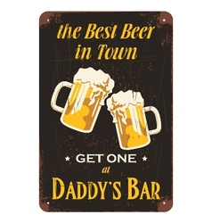 Vintage beer advertisement poster design vector