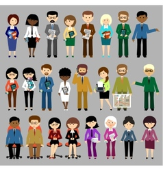 Big set of business people vector