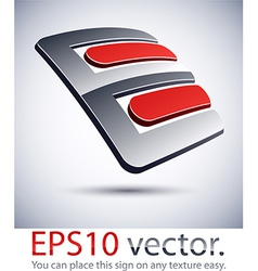 3d e modern logo icon vector