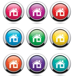 Set of home buttons vector