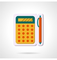 Colorful icon for mathematics vector
