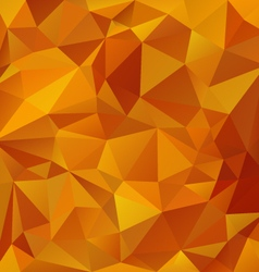 Yellow orange honey polygonal triangular pattern vector
