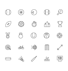 Sports Line Icons vector image