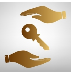 Key sign save or protect symbol vector