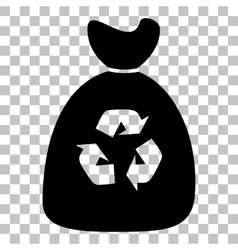 Trash bag icon vector