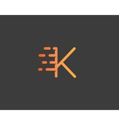 Abstract letter k logo design template dynamic vector