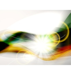 Abstract light and colorful waves vector image