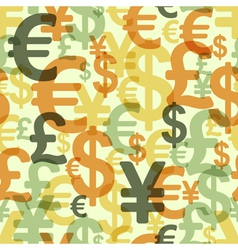 Abstract seamless pattern with money vector image vector image