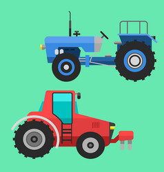 Agricultural vehicles tractor harvester machine vector