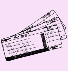 Air ticket vector
