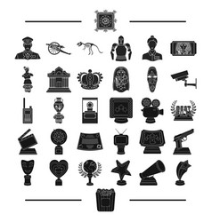 Ancient museum antiquity and other web icon in vector