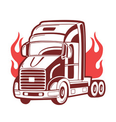 B logo with truck vector