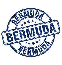 Bermuda blue grunge round vintage rubber stamp vector