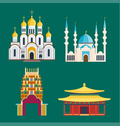 cathedral churche temple building landmark tourism vector image