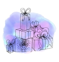 Christmas gifts birthday gift abstract vector
