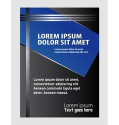 Elegant business brochure flyer design vector