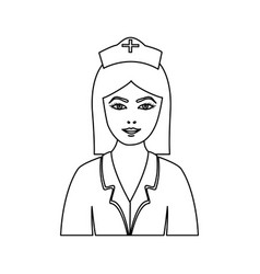 Figure people nurce icon image vector
