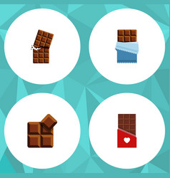Flat icon bitter set of cocoa wrapper bitter and vector