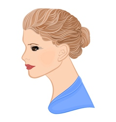 Girl with blond hair vector image vector image
