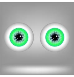 Green eyes vector