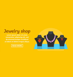 jewelry shop banner horizontal concept vector image