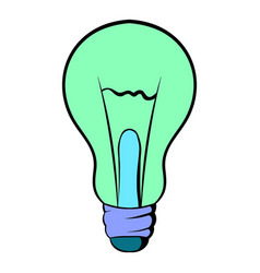 Light bulb icon cartoon vector
