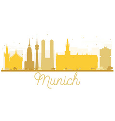 Munich city skyline golden silhouette vector