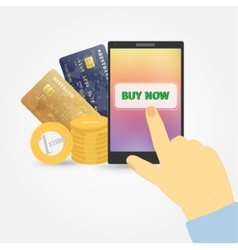 On line store Sale Laptop and smart phone with vector image