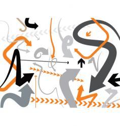 orange gray vector image vector image