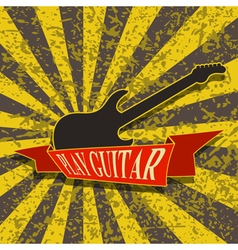 Play guitar-background vector