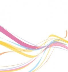 rainbow wave line vector image vector image