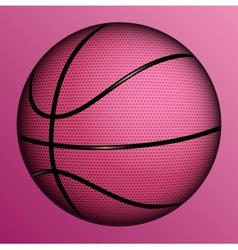realistic basketball ball vector image vector image