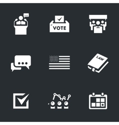 Set of voting and elections vector