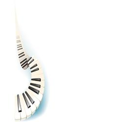 swirl fortepiano keyboard vector image vector image