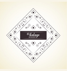 vintage and exclusive decoration classic element vector image vector image