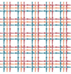 Vintage seamless pattern with crossing painted vector