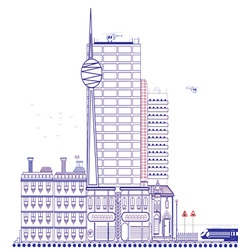 Beautiful city vector