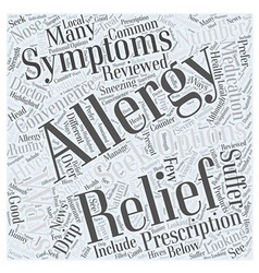 Allergy relief your relief options reviewed word vector