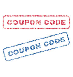 Coupon code textile stamps vector