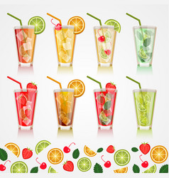 Set alcoholic beverages vector