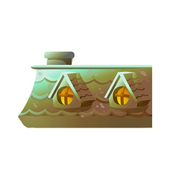 icon roof vector image