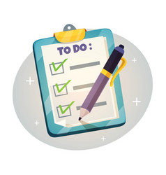 checklist on the clipboard design concept vector image