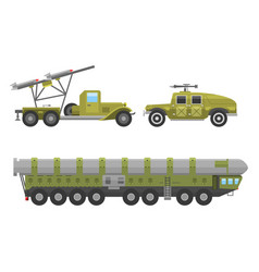 Military technic army war transport fighting vector