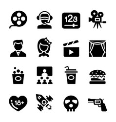 Movie theater cinema icon vector