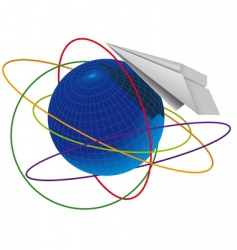 plane origami vector image